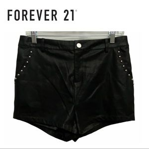 2/$20🛍️ Forever 21 Black Stud Faux Leather Shorts